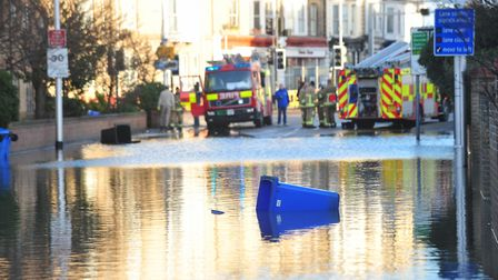 Flooding in 2013 in London Road South, Lowestoft. Picture: Nick Butcher.