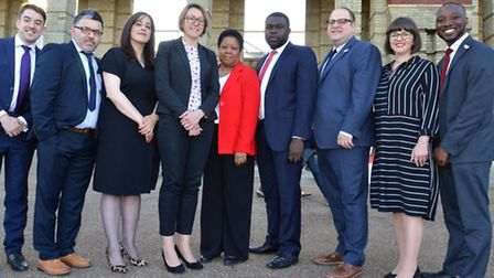 Haringeys new cabinet photographed before the meeting. Photo: Polly Hancock