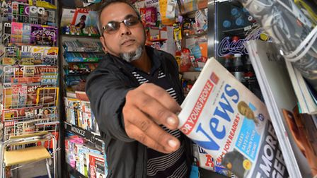 Nurul Islam will be forced to leave his kiosk outside Belsize Park Station due to council rent hike
