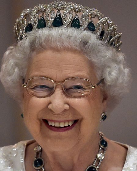 Queen Elizabeth II attends the traditional CHOGM dinner at the Corinthia Palace Hotel in Attard, Mal