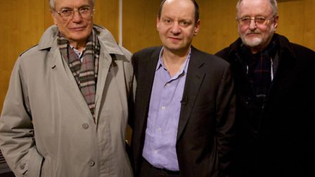 Horst Von Wachter, Philippe Sands and Niklas Frank. Picture: Kerry Brown