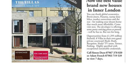 The developer of The Villas in Maida Vale has taken the unusual step of making a feature out of thei