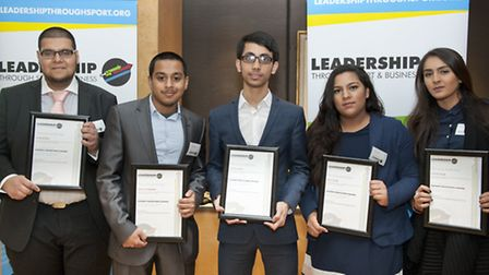 The apprentices (from left to right): Zafar Alibhai, Ismail Mohammad, Zoynal Uddin, Priya Gozra and