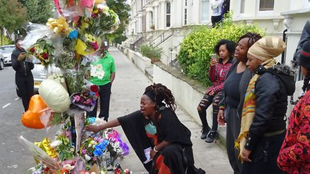 Mourners gathered to remember Moses Fadairo during the days after he was shot last September