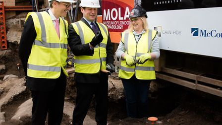 Jonathan Goldstein, Cain Hoy�s chief executive, Ed Vaizey MP, Minister of State for Culture and the
