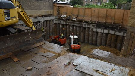Penshurst Road in Hackney has been closed for weeks after a basement dig saw concrete accidentally p