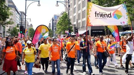 The London Friend group at Pride 2015 (Picture: London Friend)