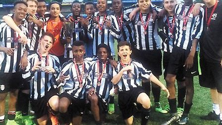 The triumphant squad from Haverstock School