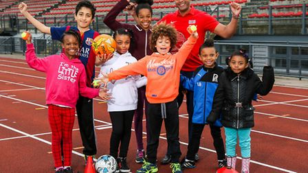 n Olympian Jason Gardener MBE (back right) launches the Summer of Stars initiative along with a grou