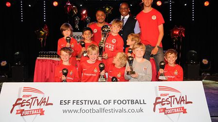 Ian Wright presented London Soccer Stars Academy Reds Under-nines with their medals