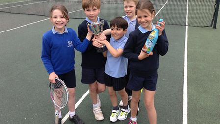 The victorious St Luke's team show off their trophy. Pic: Mrs L Paydar