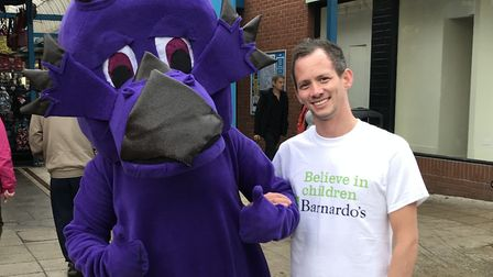Luna the Dragon was on London Road North to help with the fundraising for Barnardo's. Picture: Thoma