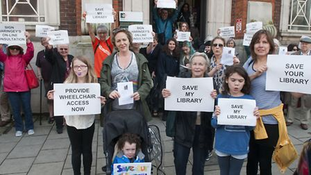 Young and old are gathering to 'save' Muswell Hill Library. Photo: Nigel Sutton