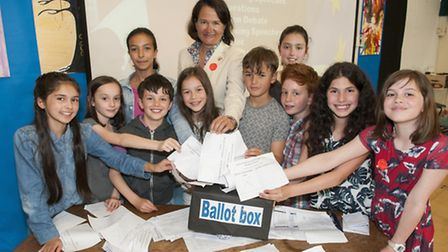 Catherine West MP, a firm Remainer, watched the vigorous debate between Muswell Hill Primary School