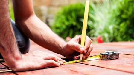 Alterations being made to the outside decking area. PA Photo/thinkstockphotos