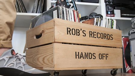 Personalised record storage box, �34.95 plus postage from plantabox, would be a dream gift for Crouc