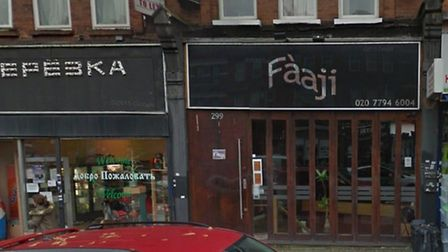 The building was previously a restaurant names Faaji, pictured here in 2015.
