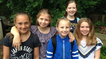 From left to right: Leila Wilson, Joss Morgan, Bea Wright, Mia Stacey and Fizzy Correia