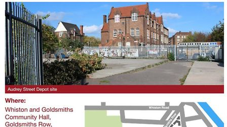The photo of the site used on the council's consultation leaflet, which park users say is misleading