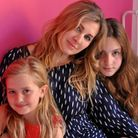 Workaholic mother Tanith Carey with Lily and Clio. Picture: Tanith Carey
