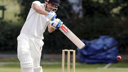 Henry Collier bats for Hampstead. Pic: Max Flego