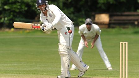 Liam Hughes was Hampstead's best performer with the bat and ball but his efforts were not enough to