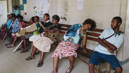 The outpatient entrance at Modilon hospital in Madang, Papua New Guinea, where Catherine is based (P