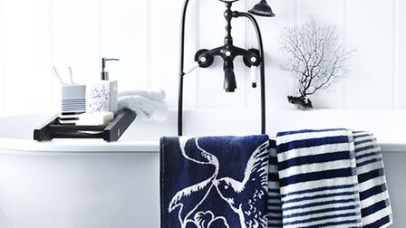 Supermarket chain George Home makes it easy to work a nautical look. Its range, mostly available in