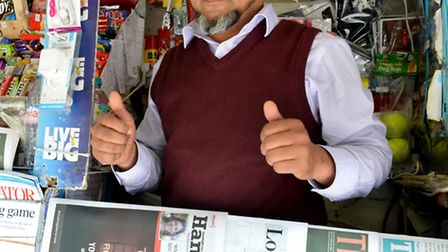 Moment Nurul Islam gets news his Belsize Park kiosk has been saved