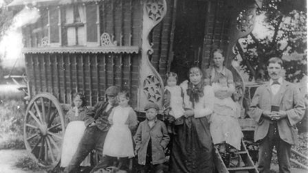 A Gypsy family at the beginning of the century