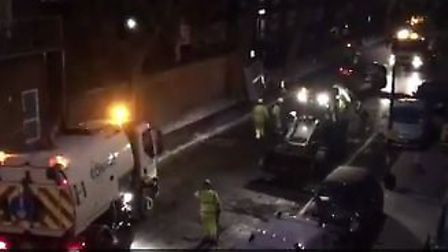 Roadworks in Royal College Street went on until 4am