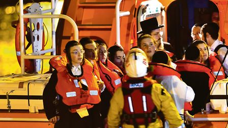Stamford Hill children are rescued from cliffs in Dover by the RNLI on Monday night (Picture: Stuart