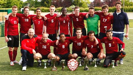 The Gower Allstars squad show off their silverware. Back row (left to right): David Garcia, Dave Bot