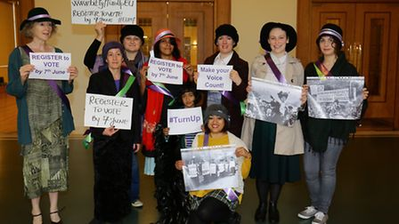 Suffragettes at the Town Hall