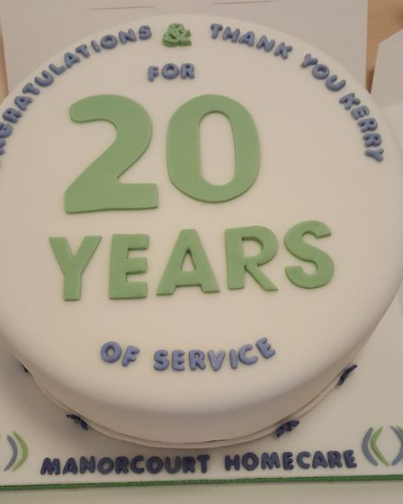 Kerry has been recognised for 20 years of service in the community. Picture: Manorcourt Homecare