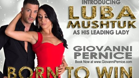 Giovanni Pernice has announced that professional Luba Mushtuk will be joining him on his 2018 tour B