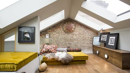 The loft extension. Its very clear where weve done the architectural work and I wanted it to feel