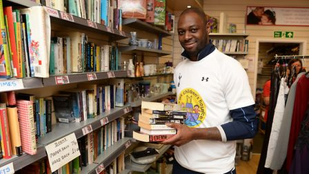 Ledley King shows his support for the hospice (Picture: Philip Brown)