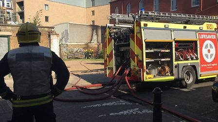 Fire crews at the scene of the blaze. Picture: @amptec24