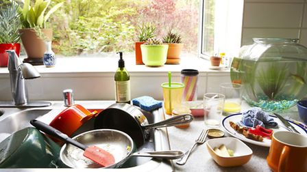 A cluttered kitchen. PA Photo/thinkstockphotos.
