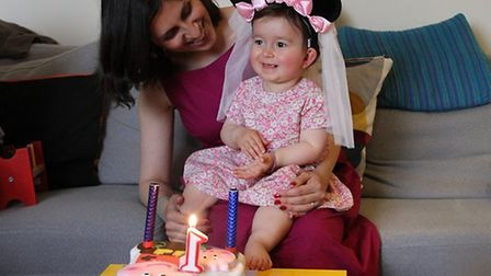 Gabriella with mum Nazanin on her first birthday