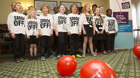 The children sang for MPs
