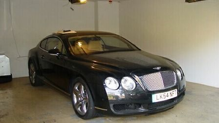 A Bentley, owned by James Ibori (Picture: Central News)