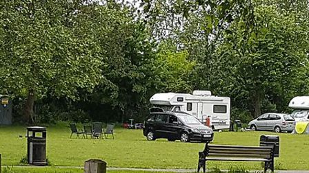 Travellers have been on Stoke Newington Common for three weeks. Picture: @minshackney1