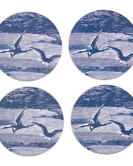 Sky coasters, set of four, 16, available from Barnabyco.com. PA Photo/Handout.