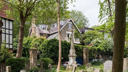 The house, on Swains Lane, was built in the 1880s for the superintendent of Highgate Cemetery