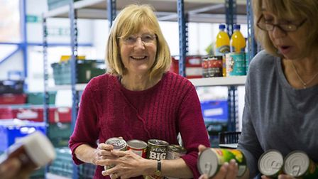 Volunteers at Hackney Foodbank. Picture: Alexandra Smart/Trussell Trust