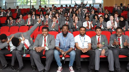 YouTube star R.S. visits Skinner's Academy (Photo: Dieter Perry)
