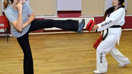Mary Sellen has been doing taekwondo since 1985 and is now a 5th Dan Master. Picture: Mick Howes