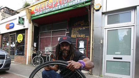 Jusus Telesford has had his cycle workshop closed down by the council for noise nuisance and people